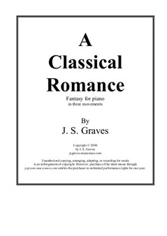 A Classical Romance, Fantasy for Piano