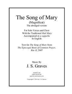 The Song of Mary (Magnificat) Abridged Version